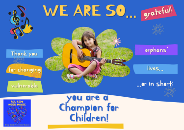 All Kids Need Music, Tax Deductible, At Risk Youth, Helping Kids