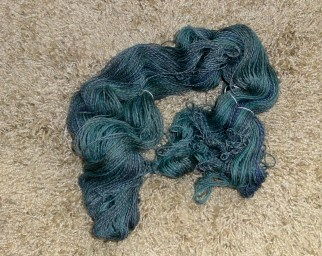 The skein before the twist was set