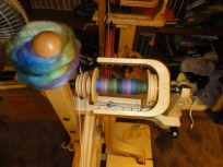 My first spinning project on my brand new Matchless is some gorgeous Shetland wool from Spunky Eclectic.