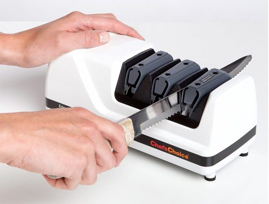best electric knife sharpener chefs choice 120 serrated knife