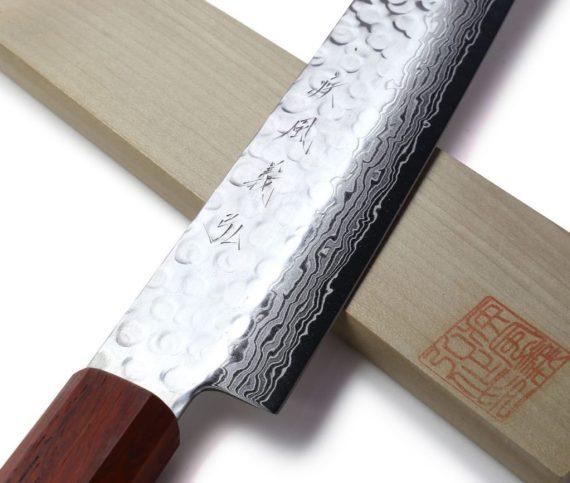 best carving knife slicing knife yoshihiro hammered damascus steel