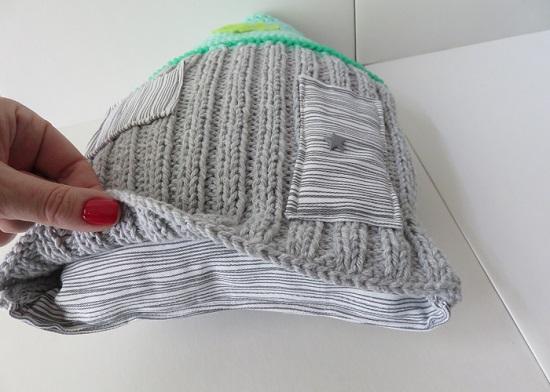 17.Le coussin gris & menthe à l'eau