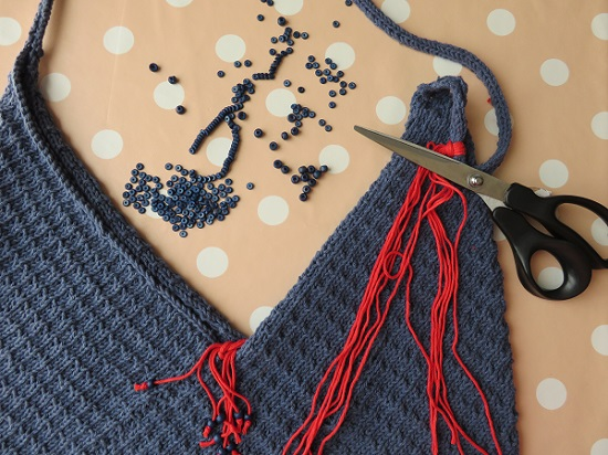 16.Sac tricoté