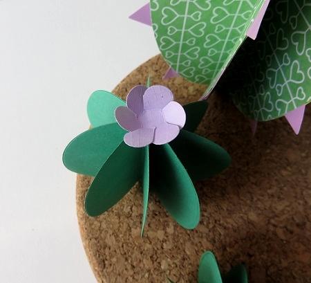 11A.cactus en papier