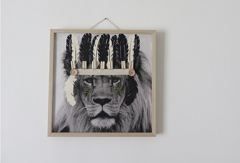 0.Tissu imprimé customisé le LION