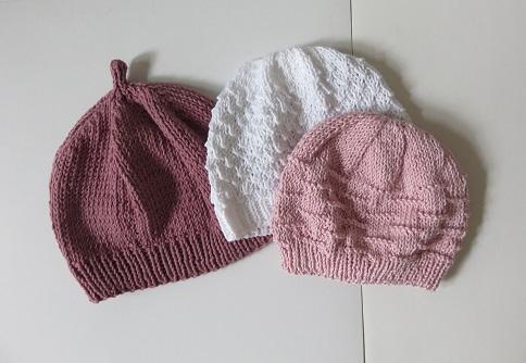 0.Trio de bonnets