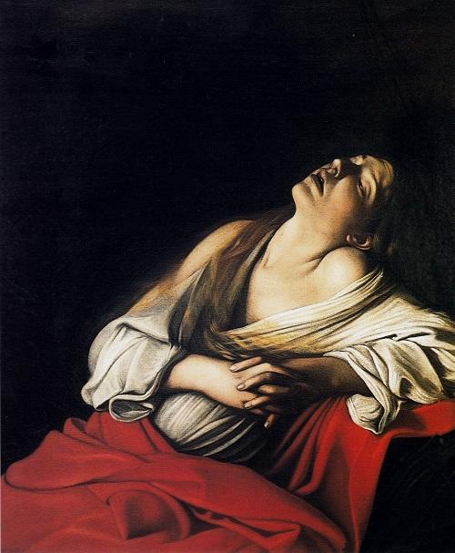 Michelangelo Merisi, dit Caravage Madeleine en extase dite « Madeleine Klain », 1606 huile sur toile, 106,5 x 91 cm Collection particulière, Rome