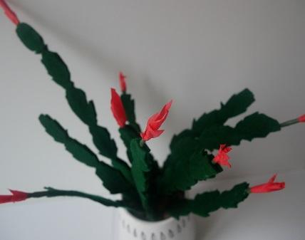 12.cactus de Noël en feutrine