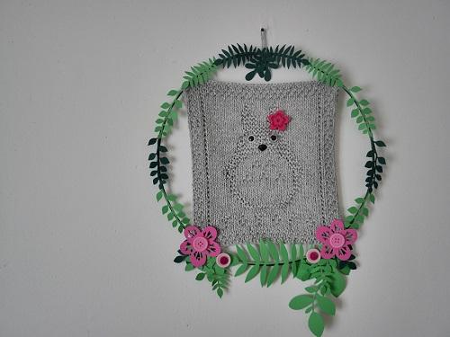 13. DIY knitting totoro craft