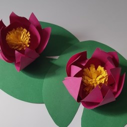 07.DIY paper lotus flower