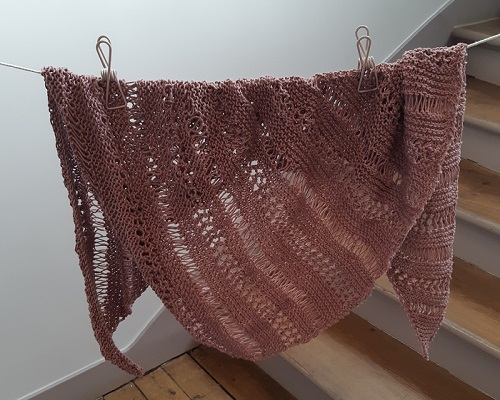 13.knitted stormy sky shawl