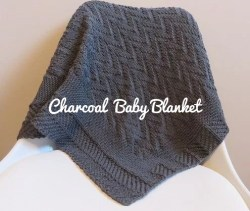Charcoal baby blanket tuto tricot gratuit