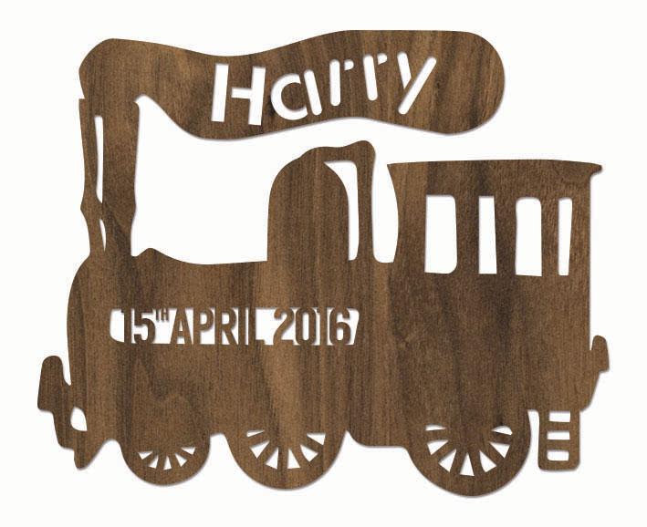 Personalised Train Plaque