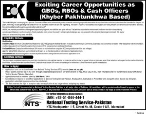 KhyberBank jobs 2016
