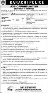 karachi police Jobs constables