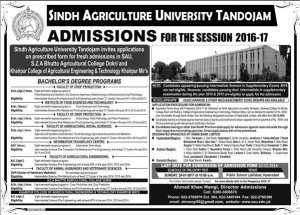 sindh-agriculture-university-2017-admissions
