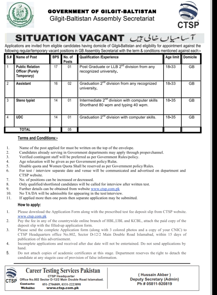 Career Testing Services Pakistan CTSP Jobs MCQs Test
