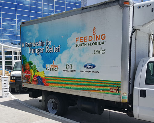 Fight summer hunger donation pickup at the Hollywood office