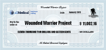 Mock check for the Wounded Warrior Project