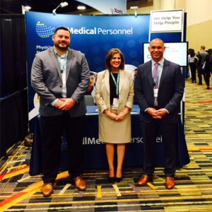 All Medical Personnel Representatives at our booth at SHM Conference in Orlando in 2018