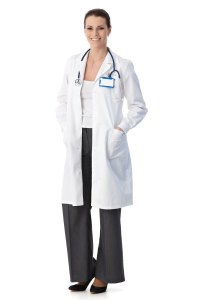 A Physician in a white coat in Locum Tenens