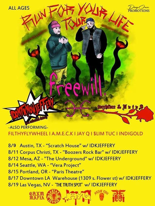 """FREEWILL """"Run For Your Life"""" Tour 2018"""