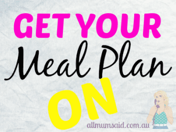Meal Plan Week 36 – 2014