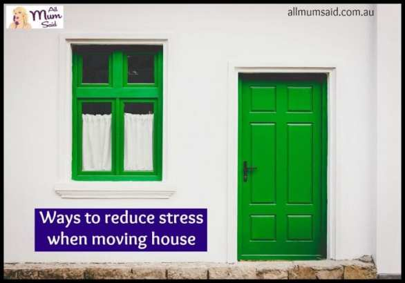 reduce stress moving house