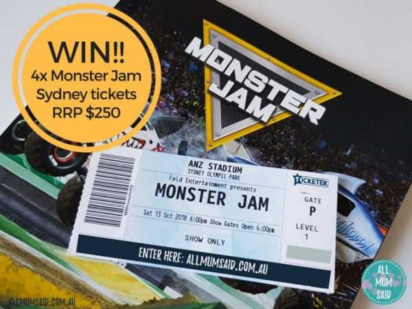 Monster Jam tickets Sydney giveaway