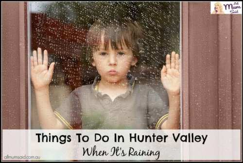 Little boy sad because it's raining | things to do in Hunter Valley when raining