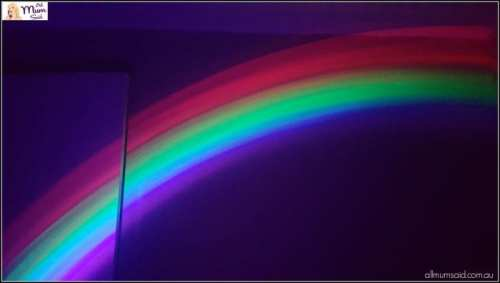 Smiggle rainbow projector night light
