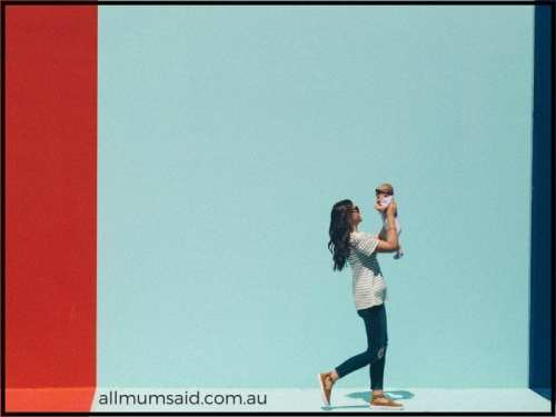mum and baby walking down street   Early years of parenting