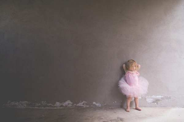 Toddler dressed up as ballerina having toddler tantrum | ways toddlers are overrated
