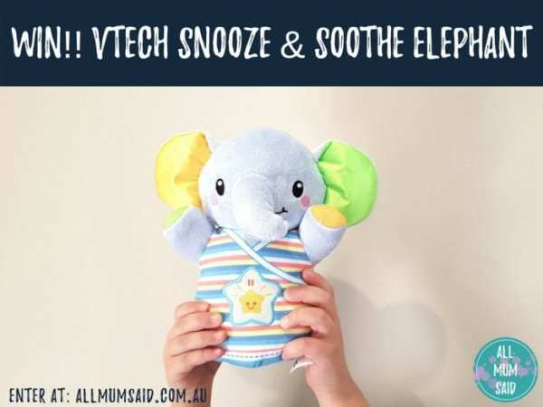 VTech Snooze & Soothe Elephant giveaway
