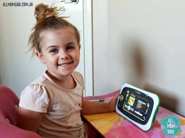 Preschooler using LeapFrog LeapPad Ultimate review