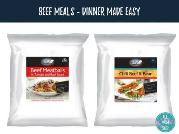 Chef direct beef meals pantry to table