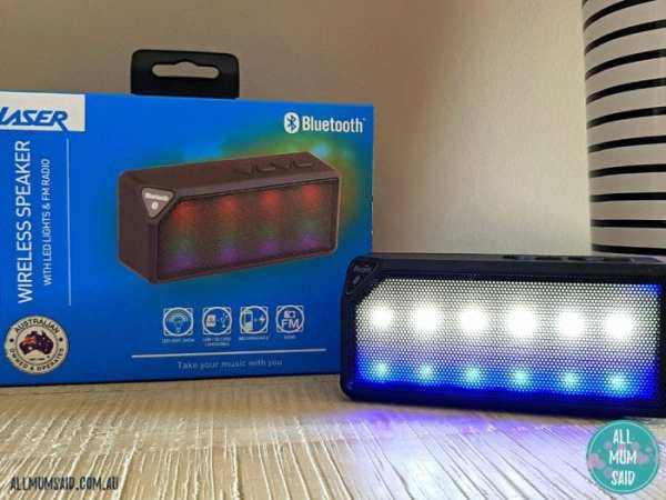 Laser wireless speaker LED light show