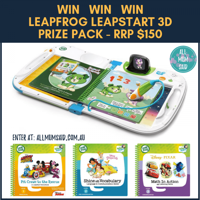 LeapFrog LeapStart 3D Review + Giveaway