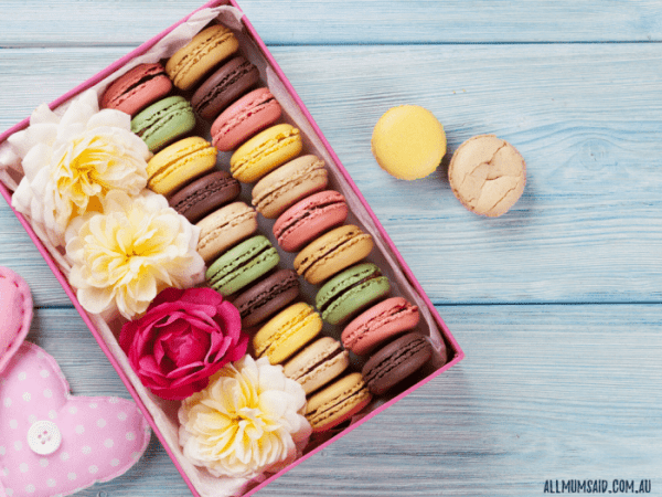 perfect flowers for each event macaroons