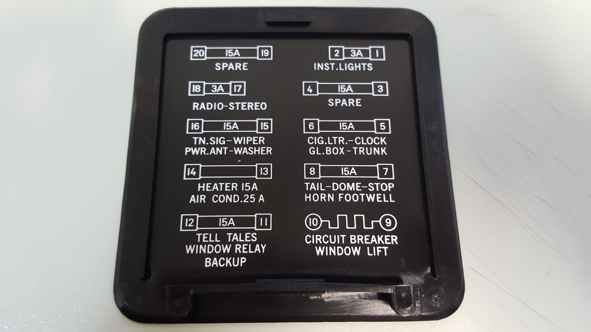Holden Hq Hz Fuse Box Cover Lid
