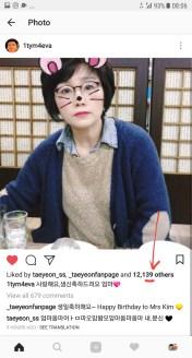 number 39 spotted on Jiwoong's instagram post of Taenggu Mum