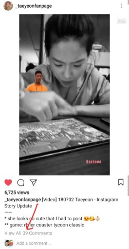 Also witnessed 39 comments on another taeyeonfanpage post!