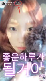 Saw this adorable instastory from taeyeon_ss 39 minutes later