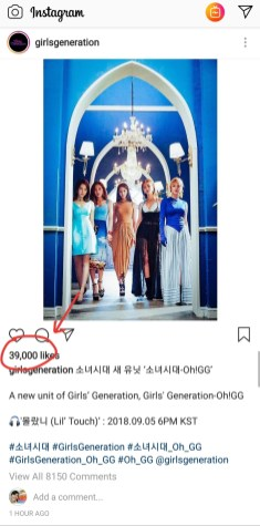 39,000 likes about Oh!GG comeback on Girls' Generation official instagram account. What a perfect number!