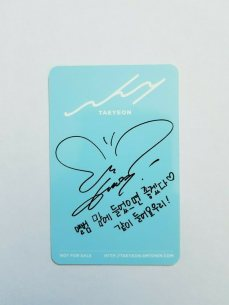 taeyeon butterfly autograph