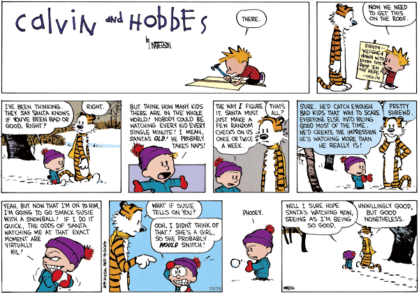 Calvin And Hobbes Christmas All My Roads