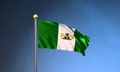 Nigeria flag stand