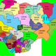 Nigerian States Flag Map