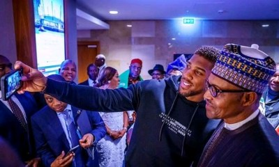 Buhari meet Anthony Joshua