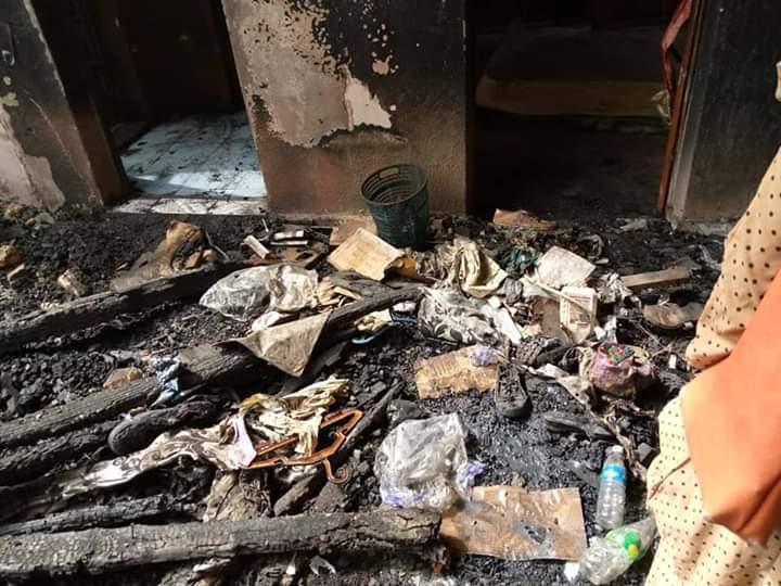 Fire Tears Down Bulding In Yobe